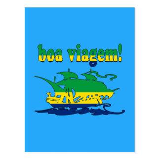 Boa Viagem - Good Trip in Brazilian - Vacations Postcard