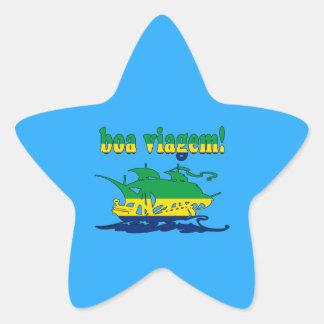 Boa Viagem - Good Trip in Brazilian - Vacations Star Sticker