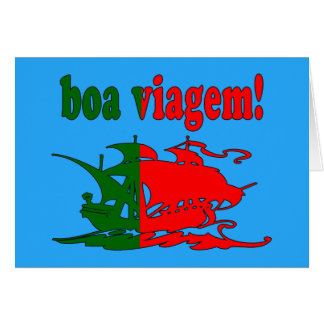 Boa Viagem - Good Trip in Portuguese - Vacations Card