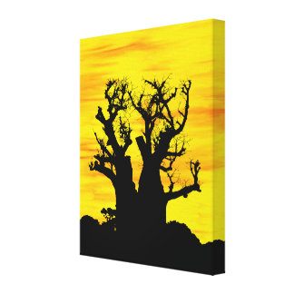 Boab Tree in Oils Canvas Print