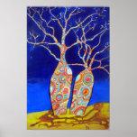 Boab Trees at Night Poster