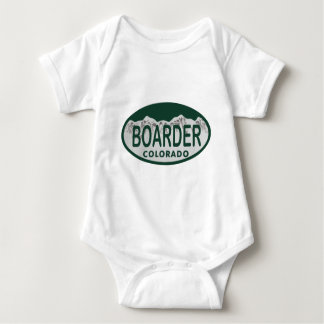 boader license oval baby bodysuit