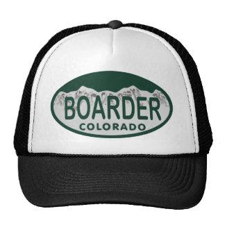 boader license oval mesh hats
