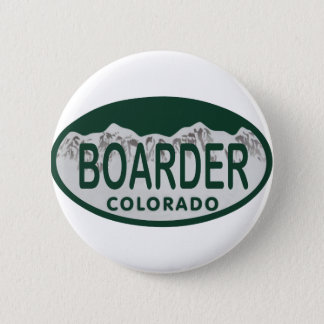 boader license oval pinback button