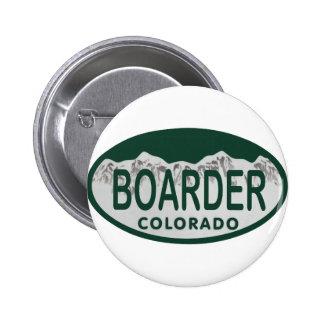 boader license oval pinback button