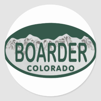 boader license oval stickers
