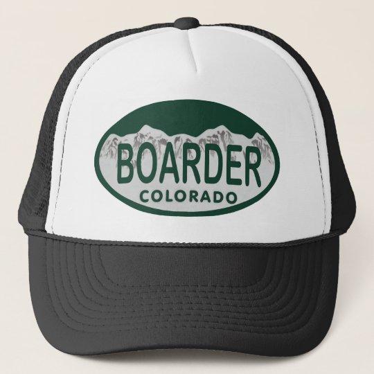 boader license oval trucker hat