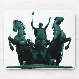 Boadicea Estatua-Westminster Puente-Londres Mousep Alfombrillas De Ratón