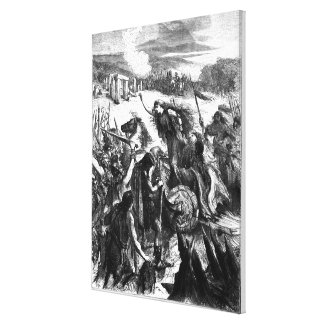 Boadicea Inciting the Iceni against the Romans Canvas Print
