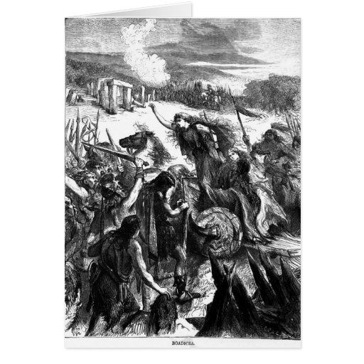 Boadicea Inciting the Iceni against the Romans Cards