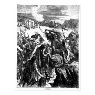 Boadicea Inciting the Iceni against the Romans Postcard