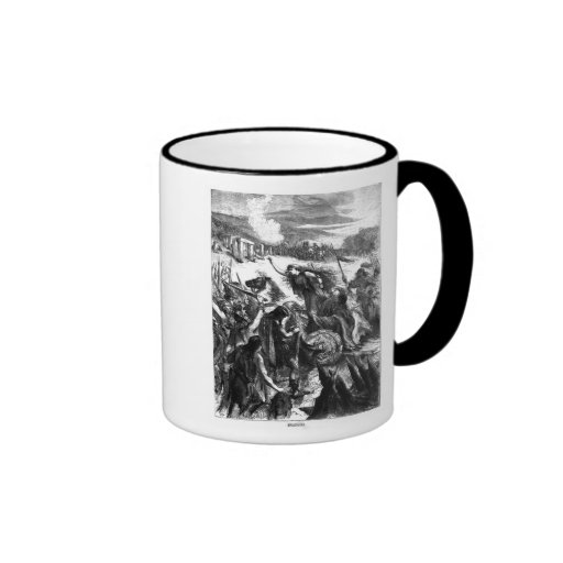 Boadicea Inciting the Iceni against the Romans Ringer Mug