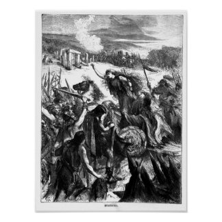 Boadicea que incita el Iceni contra los romanos Poster