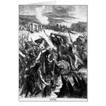 Boadicea que incita el Iceni contra los romanos Tarjeta De Felicitación
