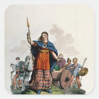 Boadicea, Queen of the Iceni Square Sticker