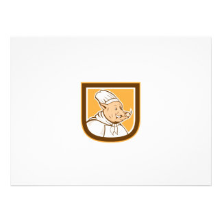 Boar Chef Cook Shield Cartoon Personalized Announcement