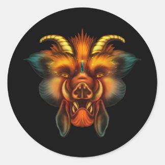 Boar Classic Round Sticker