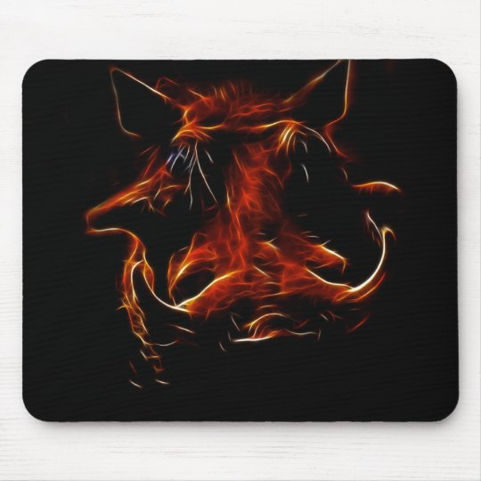 Boar coming out of the dark mouse pad