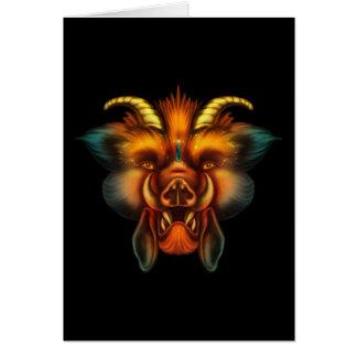 Boar Greeting Card