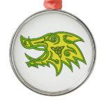 Boar Head Celtic Knot Metal Ornament