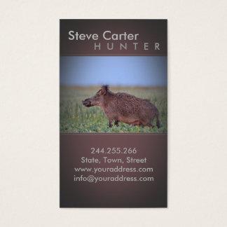 Boar Hog Hunter Forester Ranger Business Card
