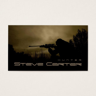 Boar Hog Hunter Forester Ranger Forest Night Business Card