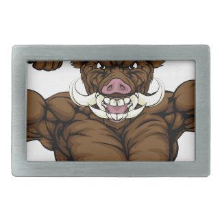 Boar Hog Mascot Belt Buckle