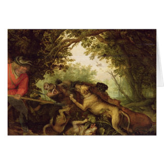 Boar Hunt, 1611 Card