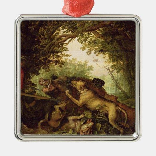 Boar Hunt, 1611 Metal Ornament