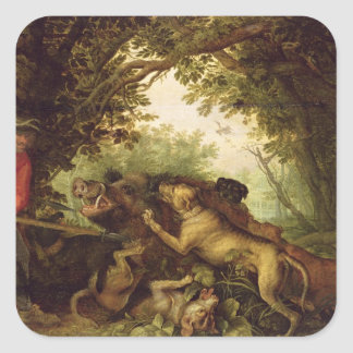 Boar Hunt, 1611 Sticker