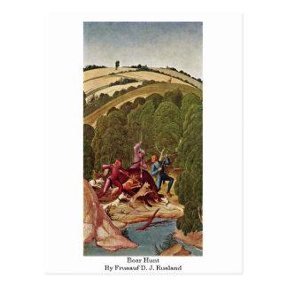 Boar Hunt By Frueauf D. J. Rueland Postcard