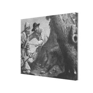 Boar hunt canvas print