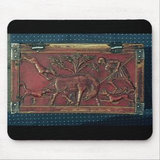 Boar Hunt, plaque from a Byzantine casket, 11th ce Mousepad