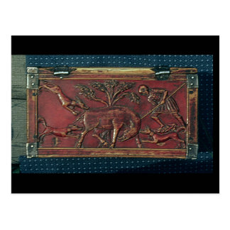 Boar Hunt, plaque from a Byzantine casket, 11th ce Postcard