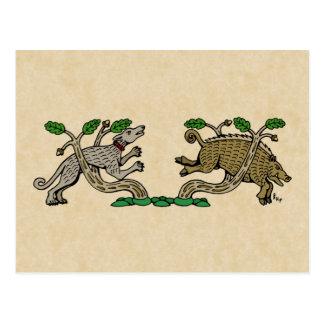 Boar Hunt Postcard
