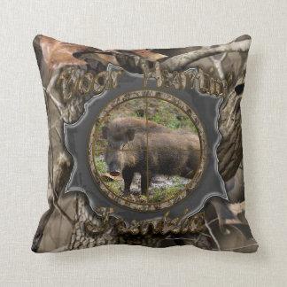 Boar Huntin' Junkie Camo Pillow