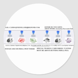 boar hunting round stickers