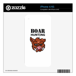BOAR HUNTING SKIN FOR iPhone 4