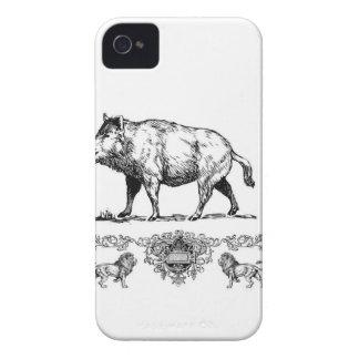 boar on a podium Case-Mate iPhone 4 case