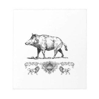 boar on a podium notepad