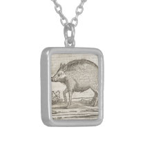 Boar Silver Plated Necklace