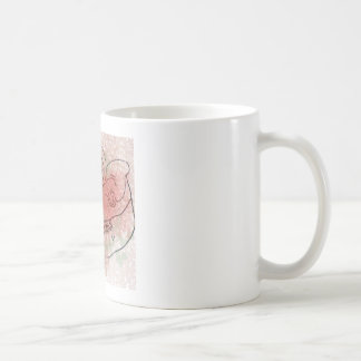 Boar skull watercolour red/green coffee mug
