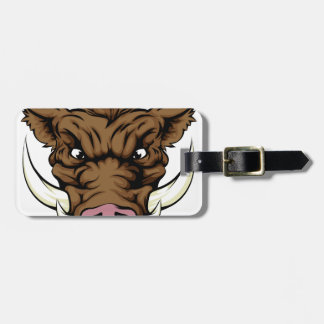 Boar sports mascot character tag for luggage