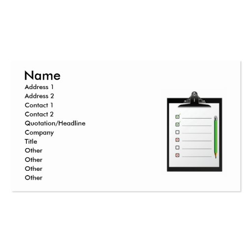 board2, Name, Address 1, Address 2, Contact 1, ... Business Card Template