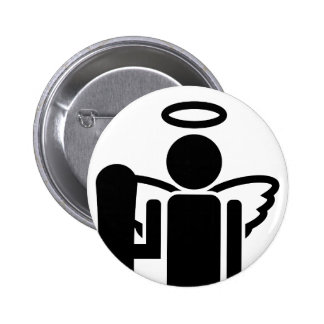 board angel. pinback button
