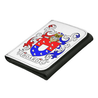Board Coat of Arms I Leather Tri-fold Wallet