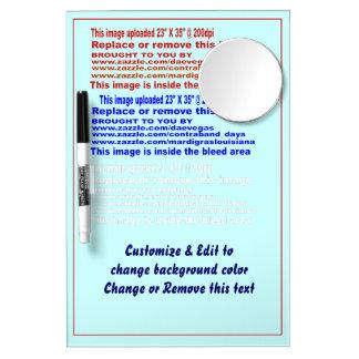 "Board Dry Erase Medium w/ Mirror and Pen Size 12"""