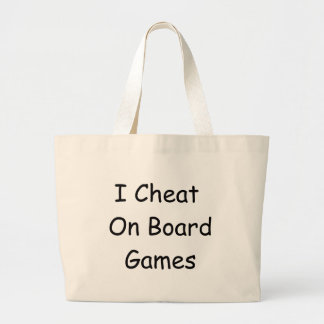 Board Game Cheater Large Tote Bag