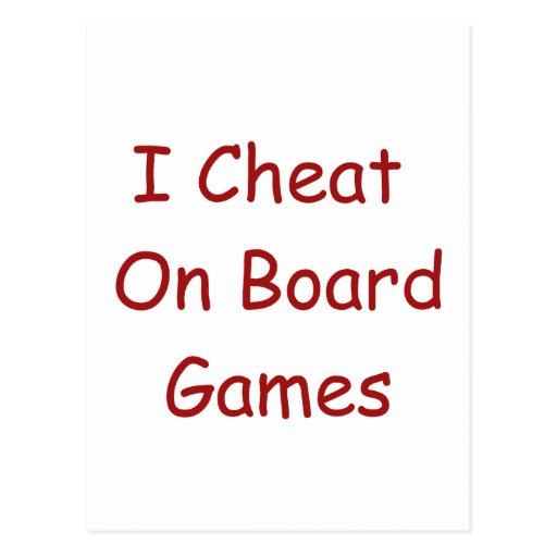 Board Game Cheater Postcard