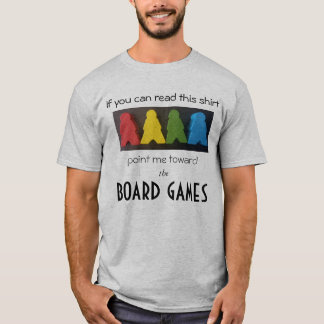 Board Games and Meeples T-Shirt